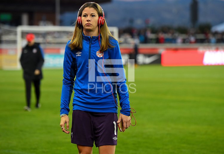 San Jose, CA - Sunday November 12, 2017: Stephanie Labbe during an International friendly match between the Women's National teams of the United States (USA) and Canada (CAN) at Avaya Stadium.