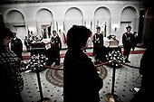 Warsaw 13/04/2010 Poland<br /> People mourning the tragic death of President Lech Kaczynski and his wife.<br /> on pictures: coffins with Mary and Lech Kaczynski in the Presidental Palace.<br /> Photo: Adam Lach / Napo Images for The New York Times<br /> <br /> Zaloba po tragicznej smierci Prezydenta Lecha Kaczynskiego i jego malzonki.<br /> na zdjeciu: trumny Marii i Lecha Kaczynskiego w Palacu Prezydenckim.<br /> Fot: Adam Lach / Napo Images for The New York Times