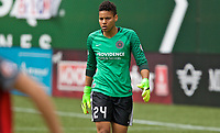 Portland, OR - Saturday April 29, 2017: Adrianna Franch during a regular season National Women's Soccer League (NWSL) match between the Portland Thorns FC and the Chicago Red Stars at Providence Park.