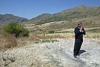 Portella della Ginestra, luglio 2005, Don Luigi Ciotti all'Agriturismo Placido Rizzotto