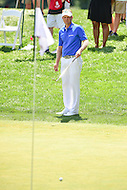Bethesda, MD - June 26, 2016: Billy Hurley III (USA) lines up a shoot on hole two during Final Round of play at the Quicken Loans National Tournament at the Congressional Country Club in Bethesda, MD, June 26, 2016.  (Photo by Philip Peters/Media Images International)