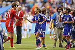 (L-R) Erina Yamane, Rumi Utsugi, Saki Kugagai (JPN), JUNE 23, 2015 - Football / Soccer : <br /> FIFA Women's World Cup Canada 2015 round 16 match Japan 2-1 Netherlands at BC Place, Vancouver, Canada. (Photo by Yusuke Nakanishi/AFLO SPORT)