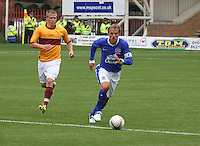 Phil Neville in the Motherwell v Everton friendly match at Fir Park, Motherwell on 21.7.12 for Steven Hammell's Testimonial.