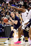 COLUMBUS, OH - APRIL 1: Jessica Shepard #23 of the Notre Dame Fighting Irish drives to the basket against Teaira McCowan #15 of the Mississippi State Bulldogs during the championship game of the 2018 NCAA Division I Women's Basketball Final Four at Nationwide Arena in Columbus, Ohio. (Photo by Justin Tafoya/NCAA Photos via Getty Images)