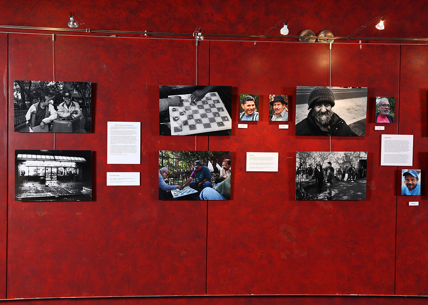 (180331RREI9555) La Esquina installation photographs, Gala Theatre Lobby,  La Esquina - The Corner exhibition at Gala Theatre. The documentary project La Esquina revolves around the history of the Latinos at the corner of Mt. Pleasant St. and Kenyon St. NW. Washington DC.  March 31, 2018 . ©  Rick Reinhard  2018     email   rick@rickreinhard.com