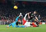 Southampton's Shane Long sees his shot go wide during the EFL Cup match at the Emirates Stadium, London. Picture date October 30th, 2016 Pic David Klein/Sportimage