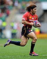 Carlos Blanco of Spain during the iRB Marriott London Sevens at Twickenham on Saturday 11th May 2013 (Photo by Rob Munro)