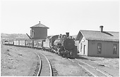 D&amp;RGW #483 with westbound freight at Osier.<br /> D&amp;RGW  Osier, CO  9/21/1948