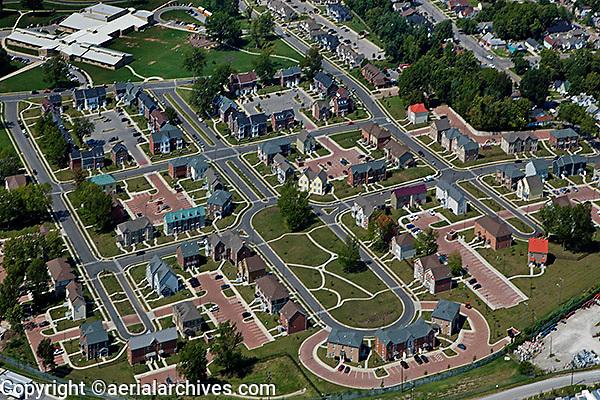 aerial photography residential housing Lexington, Kentucky