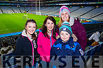 Julianne O'Neill, Maureen O'Neill, Michael Devane and Karen Devane, happy fans pictured at the All Ireland Intermediate football final held in Croke Park on Sunday, as there home team St Mary's defeated Hollymount-Carramore, Mayo.