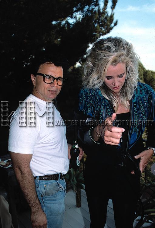 ROBERT BLAKE and SALLY KIRKLAND.Los Angeles, California.September 1988.Credit All Uses.© Walter McBride / , USA