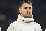 Aaron Ramsey of Juventus pictured during the line up before the UEFA Champions League match at Juventus Stadium, Turin. Picture date: 26th November 2019. Picture credit should read: Jonathan Moscrop/Sportimage