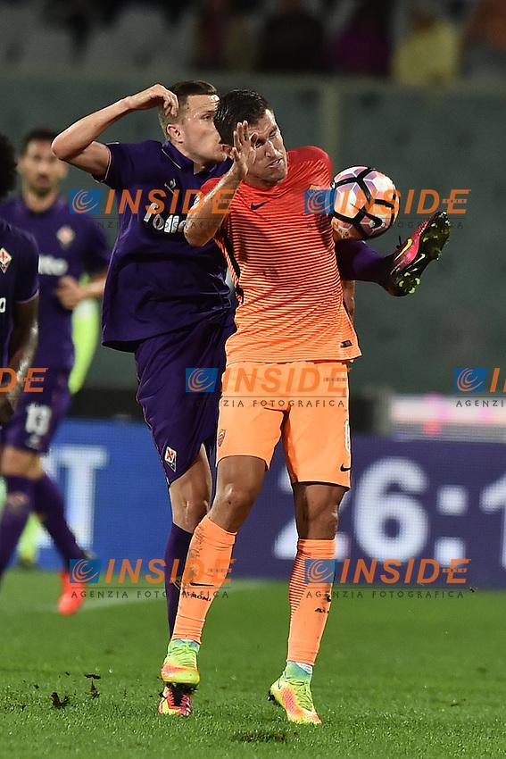 Kevin Nainggolan Roma, Josip Ilicic Fiorentina.<br /> Firenze 18-09-2016 Stadio Artemio Franchi <br /> Football Calcio Serie A <br /> Fiorentina - Roma <br /> Foto Andrea Staccioli / Insidefoto
