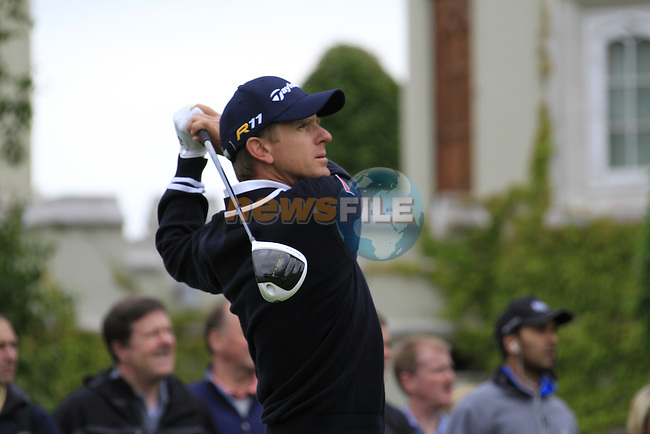 Christian Cevaer (FRA) tees off on the 1st tee to start his round on Day 2 of the BMW PGA Championship Championship at, Wentworth Club, Surrey, England, 27th May 2011. (Photo Eoin Clarke/Golffile 2011)
