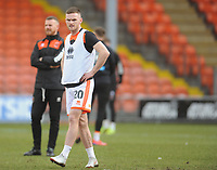 Blackpool's Oliver Turton during the pre-match warm-up <br /> <br /> Photographer Kevin Barnes/CameraSport<br /> <br /> The EFL Sky Bet League One - Blackpool v Walsall - Saturday 9th February 2019 - Bloomfield Road - Blackpool<br /> <br /> World Copyright © 2019 CameraSport. All rights reserved. 43 Linden Ave. Countesthorpe. Leicester. England. LE8 5PG - Tel: +44 (0) 116 277 4147 - admin@camerasport.com - www.camerasport.com