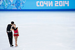Narumi Takahashi and Ryuichi Kihara of Japan compete in the Figure Skating Pairs Short Program during the 2014 Sochi Olympic Winter Games at Iceberg Skating Palace on February 6, 2014 in Sochi, Russia. Photo by Victor Fraile / Power Sport Images