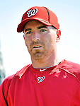 19 February 2011: Newly acquired first baseman for the Washington Nationals, Adam LaRoche prepares for hitting drills during Spring Training at the Carl Barger Baseball Complex in Viera, Florida. Mandatory Credit: Ed Wolfstein Photo