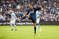 Kansas City, KS - Wednesday August 9, 2017: Danny Hoesen during a Lamar Hunt U.S. Open Cup Semifinal match between Sporting Kansas City and the San Jose Earthquakes at Children's Mercy Park.