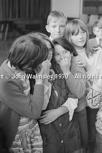 Having fun, Whitworth Comprehensive School, Whitworth, Lancashire.  1970.