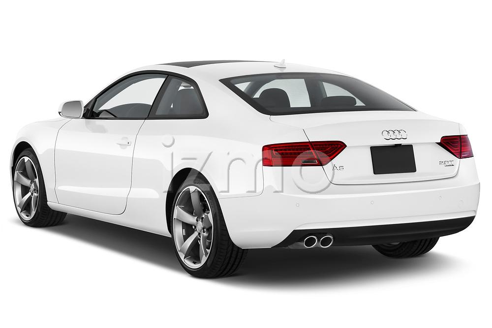 Car pictures of rear three quarter view of 2014 Audi A5 Premium Quattro 2 Door Coupe angular rear