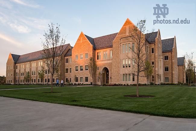 October 4, 2016; McCourtney Hall. (Photo by Barbara Johnston/University of Notre Dame)