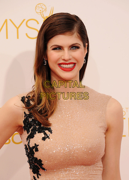 LOS ANGELES, CA- AUGUST 25: Actress Alexandra Daddario  arrives at the 66th Annual Primetime Emmy Awards at Nokia Theatre L.A. Live on August 25, 2014 in Los Angeles, California.<br /> CAP/ROT/TM<br /> &copy;Tony Michaels/Roth Stock/Capital Pictures