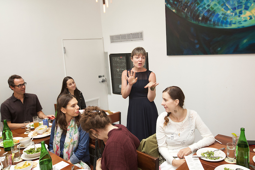 Brooklyn, NY - June 3, 2016: Lunch at Runner &amp; Stone in Gowanus, the first stop as Audi and Edible Brooklyn gather Media and Tech Influencers to eat and to tour urban farms ahead of the Food Loves Tech Festival.<br /> <br /> CREDIT: Clay Williams for Edible Brooklyn.<br /> <br /> &copy; Clay Williams / claywilliamsphoto.com