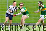 Coachman O Beaglaoich and Tadhg Morley Kerry in action against Peter Nash IT Tralee in the McGrath cup at Austin Stack Park on Sunday.