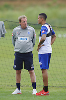 QPR manager Harry Redknapp and Jermaine Jenas