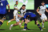 David Wilson of Bath Rugby takes on the Leinster defence. European Rugby Champions Cup match, between Leinster Rugby and Bath Rugby on January 16, 2016 at the RDS Arena in Dublin, Republic of Ireland. Photo by: Patrick Khachfe / Onside Images