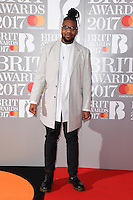 MNEK - Uzoechi Uzo Emenike at the 2017 Brit Awards at the O2 Arena in London, UK. <br /> 22 February  2017<br /> Picture: Steve Vas/Featureflash/SilverHub 0208 004 5359 sales@silverhubmedia.com