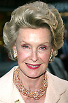 Dina Merrill attending the Opening Night performance of the New Romantic Comedy, ENCHANTED APRIL at the Belasco Theatre, New York City on April 29, 2003.