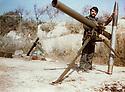 Lebanon 1980 .Azad Sagerma trained in a Palestinian camp.<br /> Liban 1980.Entrainement de Azad Sagerma, peshmerga de l'UPK, dans un camp palestinien