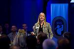 UTRECHT -  Debbie Koekkoek. , A tribe called Golf, de kracht van de connectie. Nationaal Golf Congres van de NVG 2014 , Nederlandse Vereniging Golfbranche. COPYRIGHT KOEN SUYK