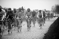 De Ronde van Vlaanderen 2012..peloton through the Holleweg