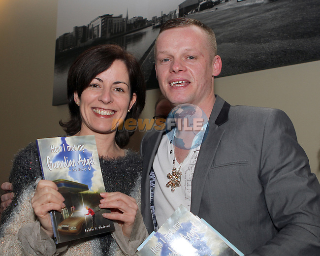 Grainne O'Kane with Robbie Andrews at the Launch of Robbie's  Book in the D Hotel...(Photo credit should read Jenny Matthews/NEWSFILE)...