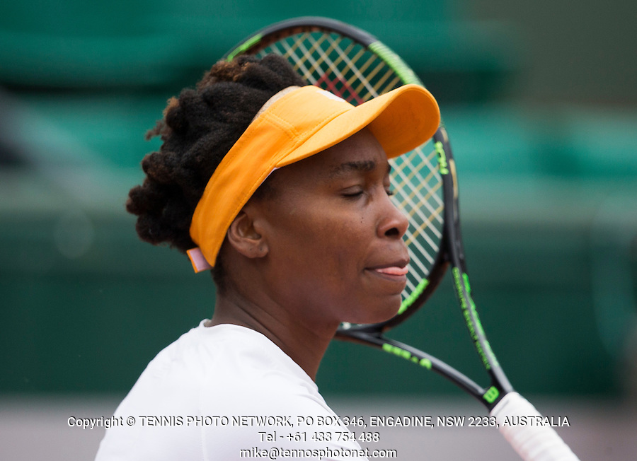 VENUS WILLIAMS (USA)<br /> <br /> TENNIS - FRENCH OPEN - ROLAND GARROS - ATP - WTA - ITF - GRAND SLAM - CHAMPIONSHIPS - PARIS - FRANCE - 2016  <br /> <br /> <br /> <br /> &copy; TENNIS PHOTO NETWORK