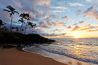 Beautiful sunset in Wailea, Maui.