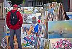 Wystawa malarstwa na augustowskim rynku, Polska<br /> Exhibition of paintings on the Augustów market, Poland