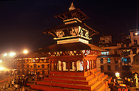Durbar Square at night, Kathmadu, Nepal.