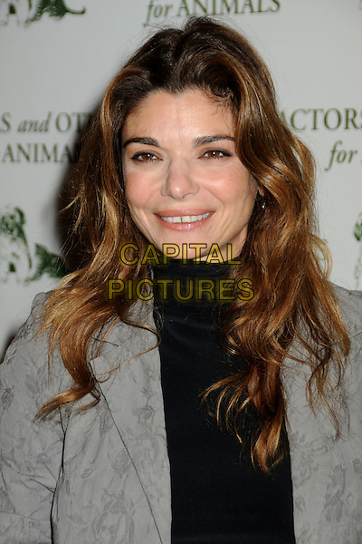 LAURA SAN GIACOMO .Actors and Others For Animals 40th Anniversary Fundraising Luncheon Honoring Betty White held at the Universal Hilton Hotel, Universal City, California, USA, 9th April 2011..portrait headshot grey gray  black  .CAP/ADM/BP.©Byron Purvis/AdMedia/Capital Pictures.