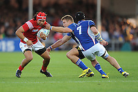 Latiume Fosita of Tonga in action during Match 20 of the Rugby World Cup 2015 between Tonga and Namibia - 29/09/2015 - Sandy Park, Exeter<br /> Mandatory Credit: Rob Munro/Stewart Communications