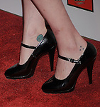 BEVERLY HILLS, CA - OCTOBER 01: Pauley Perrette (shoe; tattoo detail) at The American Humane Association's First Annual Hero Dog Awards at The Beverly Hilton Hotel on October 1, 2011 in Beverly Hills, California.