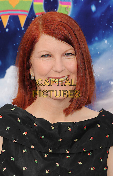 Kate Flannery.The World Premiere of 'Happy Feet Two' held at The Grauman's Chinese Theatre in Hollywood, California, USA..November 13th, 2011.headshot portrait black polka dot.CAP/ROT/TM.©Tony Michaels/Roth Stock/Capital Pictures