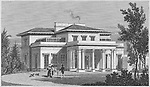 Villa in the Regent's Park, engraving 'Metropolitan Improvements, or London in the Nineteenth Century' London, England, UK 1828 , drawn by Thomas H Shepherd