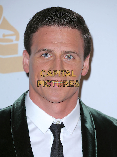 Ryan Lochte.at The  Pre-GRAMMY Gala & Salute to Industry Icons with Clive Davis Honoring Antonio L.A. Reid held at The Beverly Hilton Hotel in Beverly Hills, California, USA, February 9th 2x013.                                                               .portrait headshot  black tie white shirt  green jacket velvet .CAP/DVS.©Debbie VanStory/Capital Pictures.