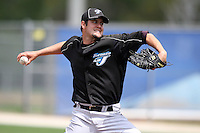 March 29, 2010:  Pitcher Randy Boone (67) of the Toronto Blue Jays organization during Spring Training at the Englebert Minor League Complex in Dunedin, FL.  Photo By Mike Janes/Four Seam Images