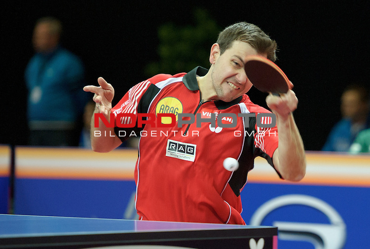 20.03.2015, &Ouml;VB Arena, Bremen, GER, GAC Group ITTF World Tour German Open Kenji Matsudaira (JPN) vs Timo Boll (GER), im Bild Timo Boll<br /> <br /> Foto &copy; nordphoto / Frisch