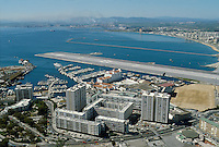 - panorama from the Rock with the airport runway ....- panorama dalla Rocca con la la pista dell'aeroporto