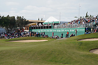 18th green crowds getting ready for the final groups during Round 4 of the Portugal Masters, Dom Pedro Victoria Golf Course, Vilamoura, Vilamoura, Portugal, 27/10/2019<br /> Picture Andy Crook / Golffile.ie<br /> <br /> All photo usage must carry mandatory copyright credit (© Golffile | Andy Crook)